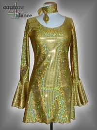 Kleid Modell 70th,Holo gold