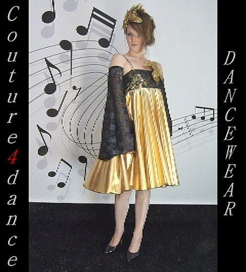 Minikleid Schmetterling, Gold/blau