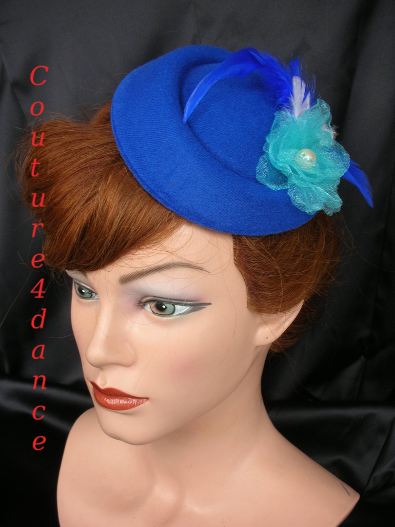 Fascinator Royalblau
